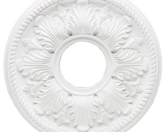 Polyurethane Ceiling Medallion Kit for Light Fixtures or Ceiling Fans