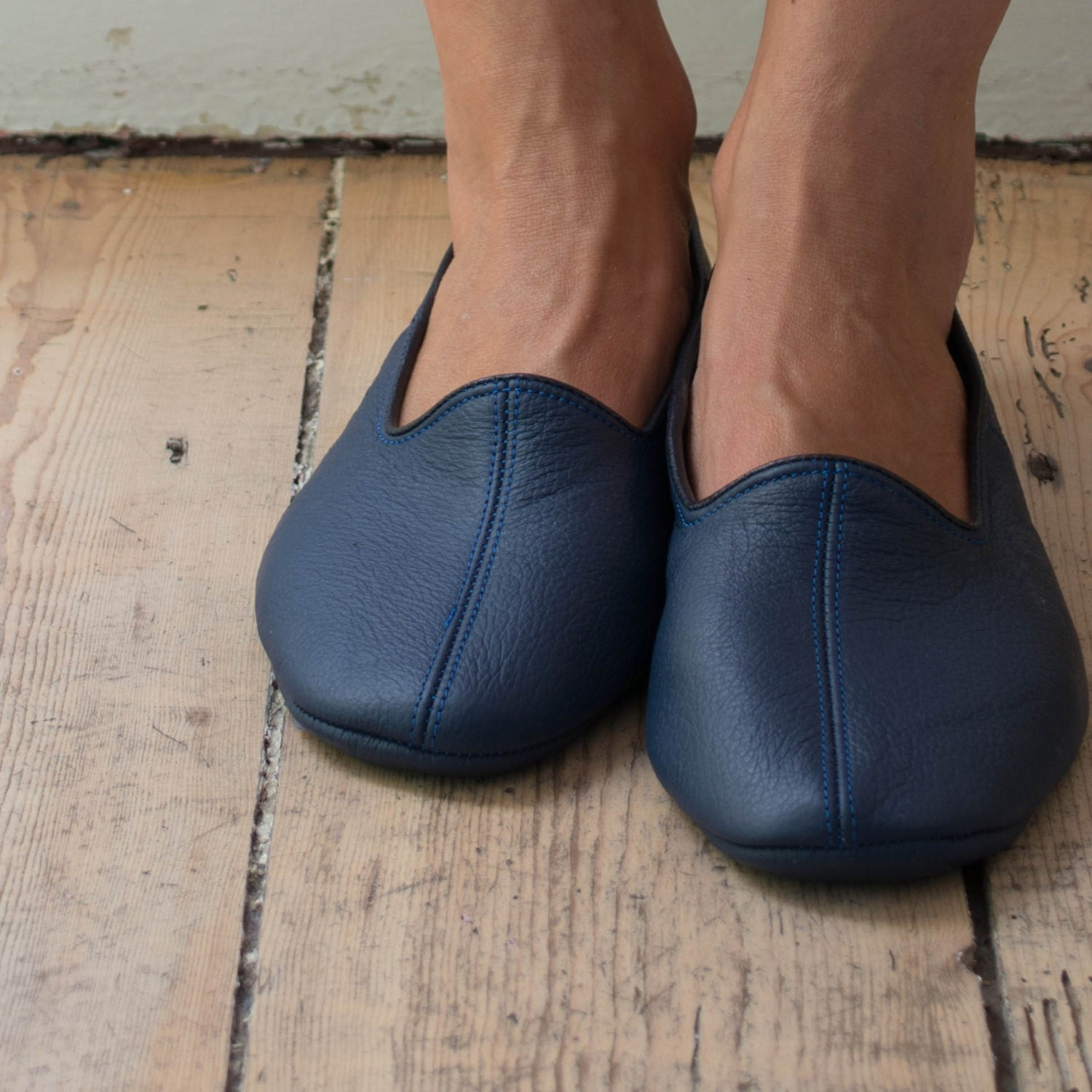 leather house slippers
