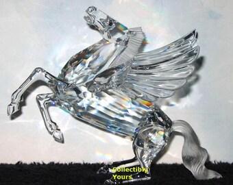 New Hand SIGNED Swarovski Society PEGASUS, by Adi Stoker, Fabulous Creatures DO1X981, Austrian Crystal, Never Displayed, Original  Box