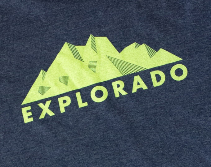 Colorado Tee Shirt - CO shirt - Blue Colorado tee shirt - Hiking tee-shirt - Adventure teeshirt - Exploring Teeshirt