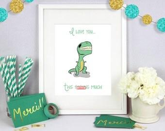 Gift for Him, Gift for Her, Christmas Gift, Holiday Gift, Anniversary Gift, Boyfriend Gift, Girlfriend Gift, Dinosaur Art, Dino Print, Art