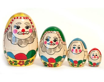 Nesting dolls eggs Russian Men egg - kod16b