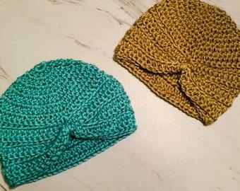 Crochet Baby Hat/ Crochet Baby Turban/ Baby Hat Crochet/ Baby Hats for Girls