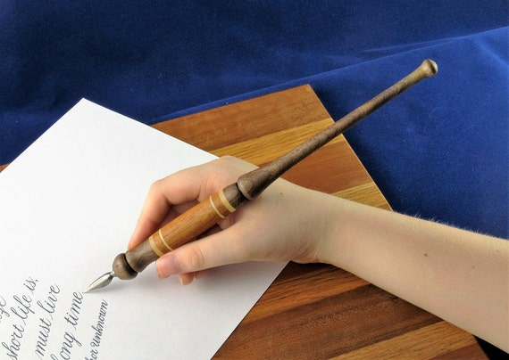 Items Similar To Straight Calligraphy Nib Holder Wood Ink