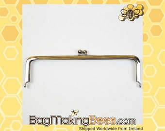 7 Inch Silver Clutch Purse Metal Frame With Kiss Lock [1 Piece]