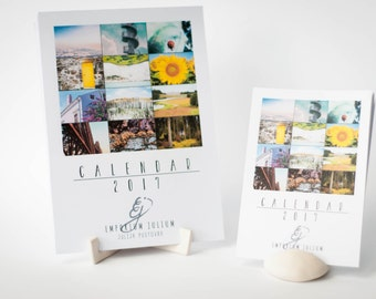 2017 2018 TRAVEL CALENDAR, Printed calendar, Desk calendar, 2017 Wall calendar, A5 calendar, A4 calendar, Photography calendar, Colourful
