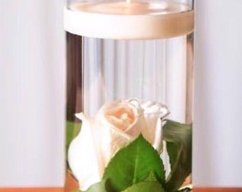 3 Piece Floral Floating Candle Centerpiece