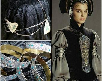 PADME AMIDALA grey dress (headpiece and bracials)  Star Wars epll