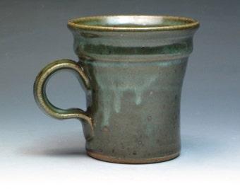 Just a Good Mug, Sweet Form and Comfy Handle, Beautiful Glaze, Studio Pottery Stoneware Mug