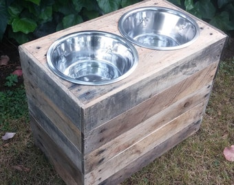 Laura - Two Custom Dog Bowl Stands