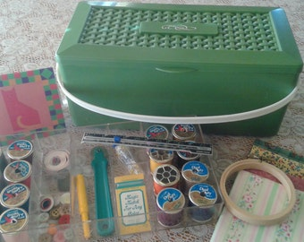 Vintage  Sewing Box and Supplies