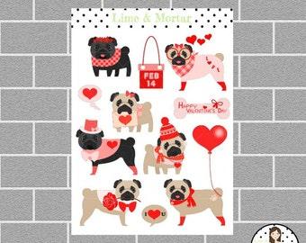 Love Pug Planner Stickers
