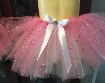 Sparkle Tutu Skirt, Custom Tutu Skirt, Glitter Tutu Skirt, Glitter overlay