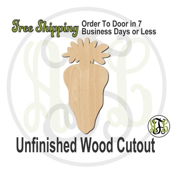 Carrot - 14001- Easter Cutout, unfinished, wood cutout, wood craft, laser cut shape, wood cut out, Door Hanger, wooden, wall art