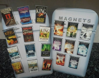 Stephen King Fridge Magnet. Choice of Book Cover Art. The Shining, It, Carrie, The Dark Tower