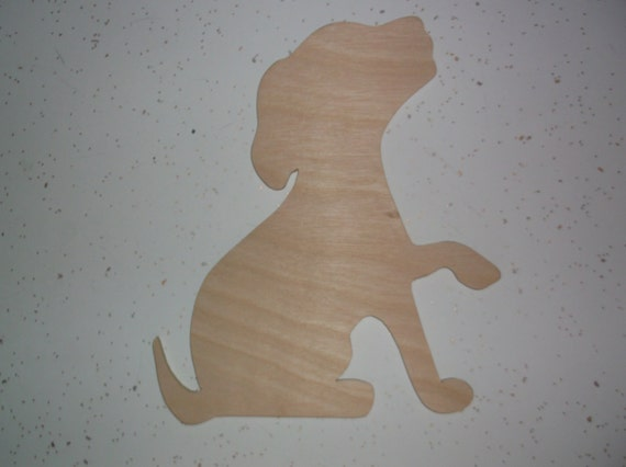 Unfinished Wooden Dog Dog Cut Out Wood Crafts Puppy Dog