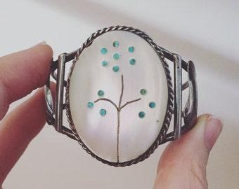 Vintage Zuni Native American Healer Cuff Bracelet