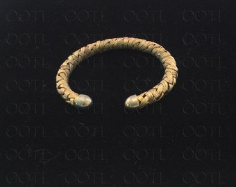 Vintage Gold Tone Braid Design Cuff Bracelet