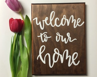 Home | Wooden Signs (Welcome sign, Home decor, Housewarming, Wedding gift, etc.)