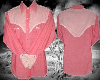 Hoedowner's Vintage Western Men's Shirt, Size Medium