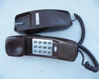Vintage Trimline Bell Telephone Brown Trimline Desk Model Western Electric