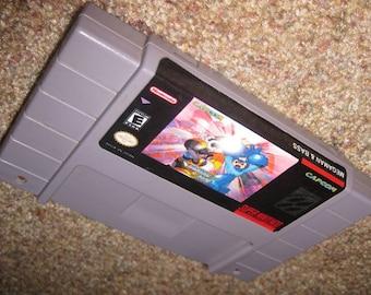 Mega man and bass SNES Super nintendo Megaman English version repro
