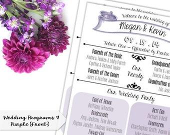 Custom Wedding Program | Infographic | Modern | PRINTABLE/DIGITAL/DIY