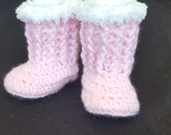 Crochet baby boots, tall baby boots, winter baby boots, baby girl boots, baby girl shoes, baby booties, handmade baby shower gift