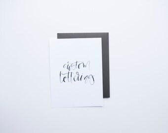Custom 9x12  | Hand Lettered