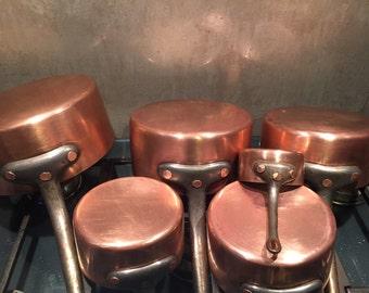 6 Piece Copper Set Hammered Copper Rivets Paris, France