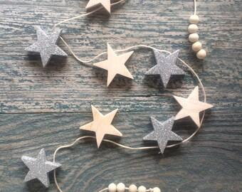 Wooden Star Garland // Baby // Nursery // Kids Decor // Gift