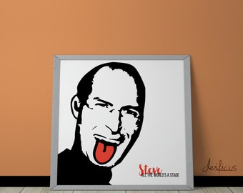 Steve Jobs Digital Art Print - Inspirational Wall Art, Printable Art, Funny Poster Art, Canvas Art, Instant Digital Download