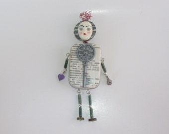 Altered Tin Art Doll