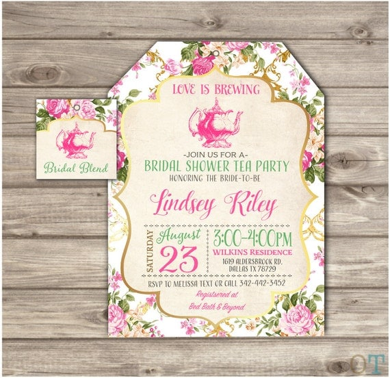 Bridal Shower Tea Invitations as great invitations layout