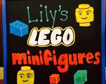 Lego storage/ custom lego storage box/ minifigures storage
