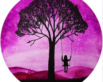 Pink Daydreamer A3 Square Print