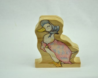 Hand drawn Beatrix Potter display piece Jemima Puddle-Duck