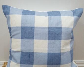 """BLUE WHITE Cushion Cover 16"""""""