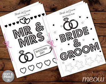 Wedding Coloring Book Children\'s Activity Sheets Booklet