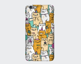 Cat iPhone Case, Cat iPhone 6 Case, Print 6s, 6, 6s Plus, 6 Plus, 5s, 5c, 4s. Designed by Gemma Correll. Girlfriend Gift, Girly