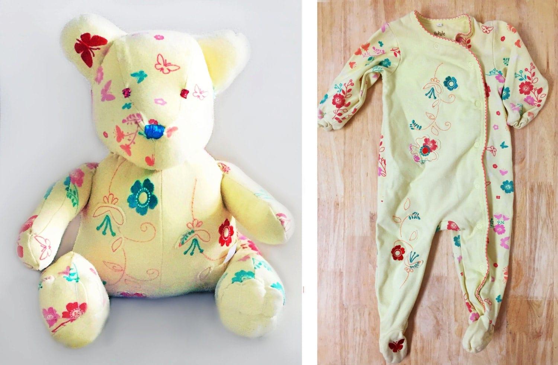 Memory Bear Sleeper Keepsake Onesie Stuffed Animal
