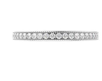 2mm sterling silver cz full eternity weddind band