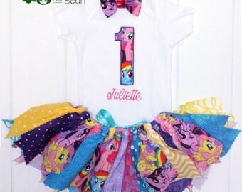 My Little Pony Birthday Outfit - My Little Pony Birthday Tutu - My Little Pony Birthday Shirt - My Little Pony Costume - First Birthday