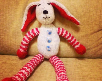 Barry Bunny Hand Knitted Toy