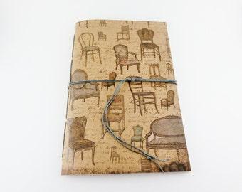 Graph Paper Notebook, Graphing Journal, Kraft Notebook, Handbound Cahier, Cute Notebook, Dot Grid Journal, Lined Notebook