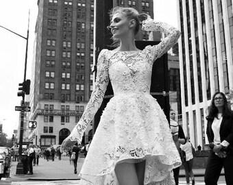 Vintage inspired wedding dress, vintage lace wedding dress, vintage short wedding dress, vintage style wedding dress, vintage wedding dress
