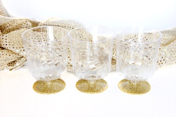 9pc Gold Glitter Cup, Gold Glitter Disposable Glass, Gold Glitter Plastic Cup, Glitter Party, Plastic Party Cup, Disposable Hard Plastic Cup
