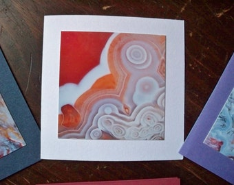 Photo Note Cards - Blank - Agates