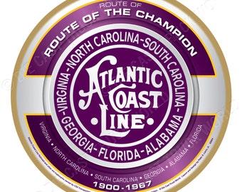 Atlantic Coast Line Railroad Logo Wood Plaque / Sign