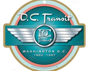 DC Transit Logo Wood Plaque / Sign